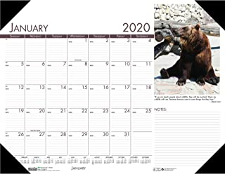 product image for House of Doolittle 2020 Monthly Desk Pad Calendar, Earthscapes Wildlife, 22 x 17 Inches, January - December (HOD172-20)