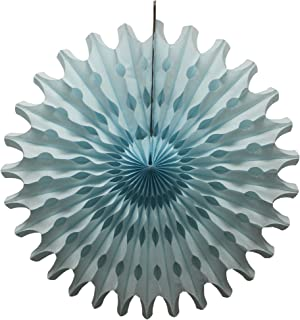 product image for Devra Party 6-Pack 18 Inch Large Honeycomb Tissue Paper Fan (Light Blue)
