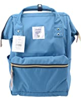 Anello Official Sea Blue Japan Fashion Shoulder Rucksack Backpack Casual Tablet Diaper Bag Unisex