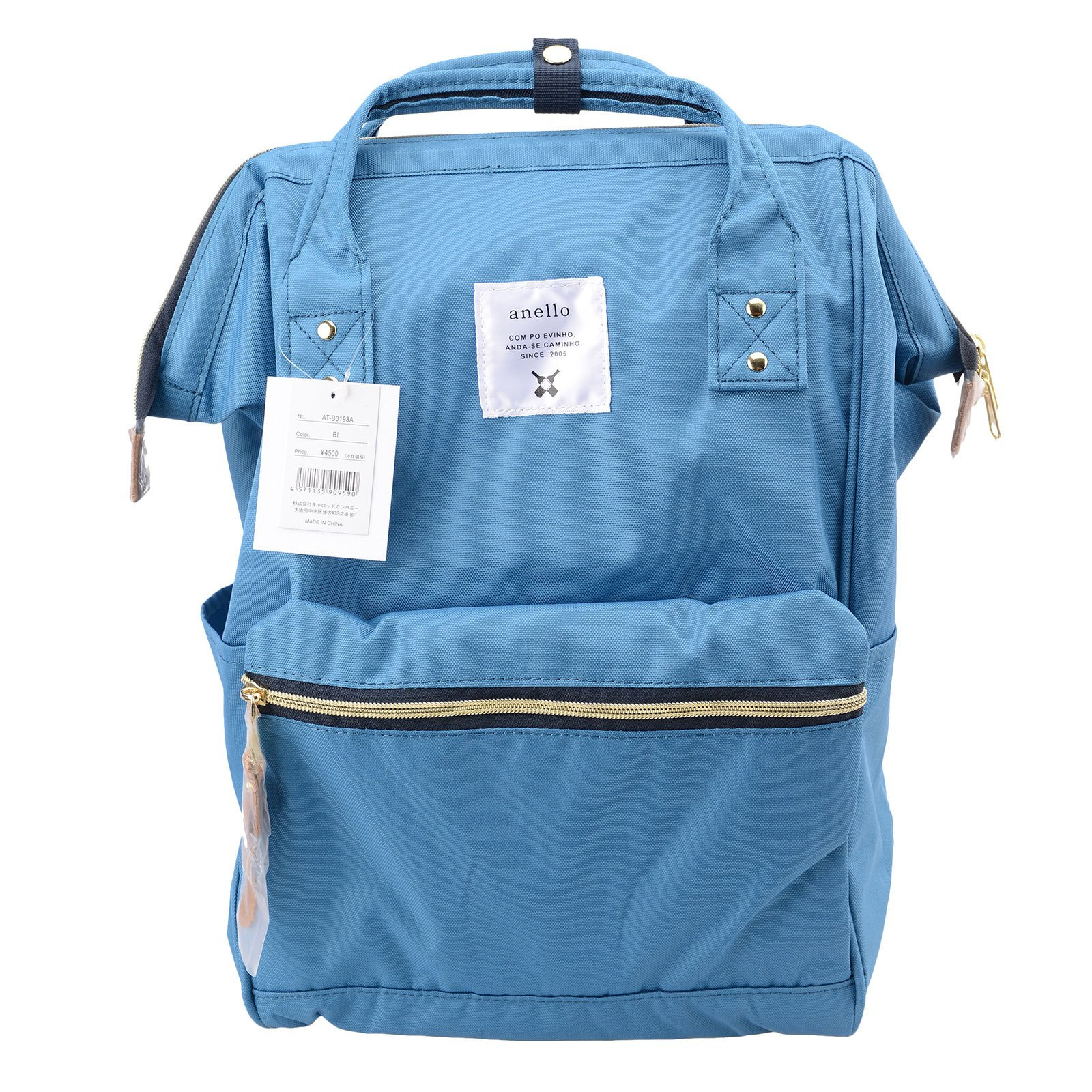 Anello Official Sea Blue Japan Fashion Shoulder Rucksack Backpack Casual Tablet Diaper Bag Unisex
