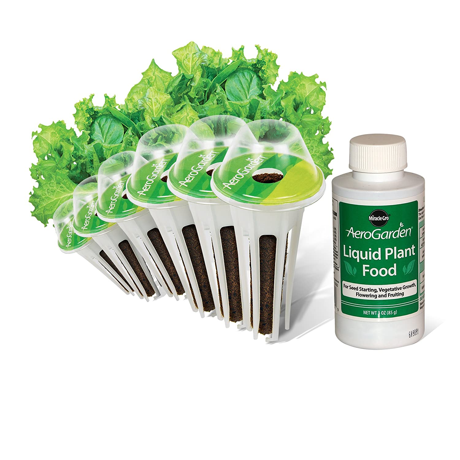 AeroGarden Salad Greens Mix Seed Pod Kit (6-Pod) 806502-0208
