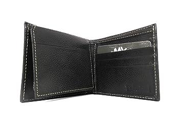 Men's Premium Genuine Leather Flipfold Passcase Wallet Onesize Black