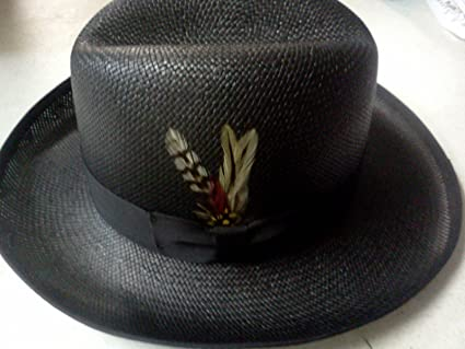 Amazon.com  Capas Headwear Straw Summer Hat Godfather Black Size Large  New!  Everything Else 835ddc40162