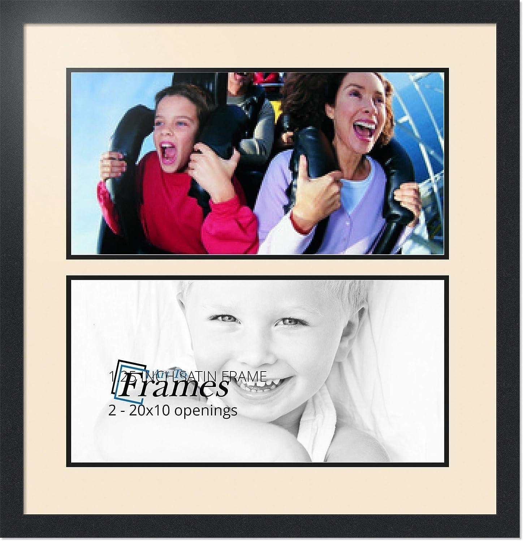 ArtToFrames アルファベットフォトフレーム  6x20インチ 2窓 サテンブラックフレーム 2 - 10x20 ホワイト Double-Multimat-1579-825/89-FRBW26079 B00G03PDQM 2 - 10x20 アラバスター アラバスター 2 - 10x20
