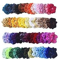 Mcupper 54Pcs Hair Scrunchies Velvet Elastic Hair Bands Scrunchy Hair Ties Ropes Scrunchie for Women Girls Hair…