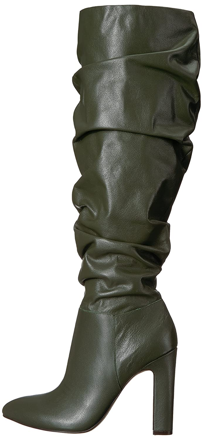 The Fix Women's Kennedi Pointed-Toe to-The-Knee Slouch Boot B074JPTXR4 9 M US|Autumn Green Leather