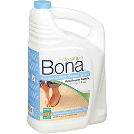 Bona Free and Simple Hardwood Floor Cleaner Refill, 128-Ounce by Bona