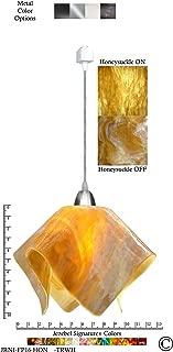 product image for Jezebel Signature Flame Track Lighting Pendant Large. Hardware: Nickel. Glass: Honey