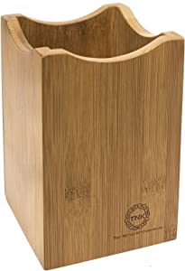 Bamboo Utensil Holder or Caddy for Kitchen Tools. Perfect Organizer for Stainless Steel, Ceramic, or Bamboo Spatulas, Spoons, and Flatware. Quality Home Collection By Top Notch Kitchenware!