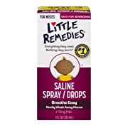 Little Remedies Saline Spray and Dropper | 1 oz | Pack of 6 | For Noses to Breathe Easily | Gently Wash Away Mucus | Newborn Safe