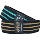 BOOTY GLUTE CLOTH RESISTANCE HIP BANDS - Non Slip - Thick Fabric SQUAT BAND for Workout, Exercise, & Fitness. 2 Pack of G3 HIP THRUSTER LOOP BANDS are Great Resistant Bands for LEGS and BUTT.