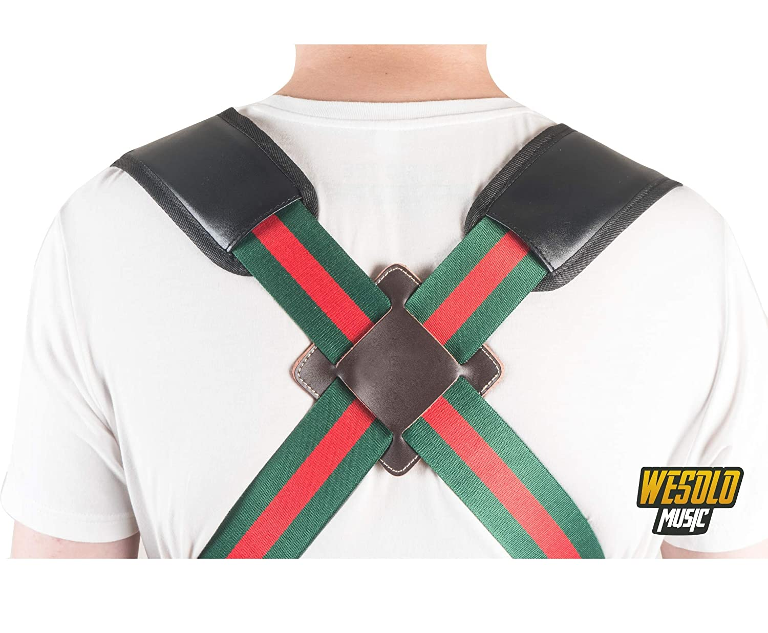 2019 New Djembe Strap Hand Drum Shoulder Strap Harness Percussion Instrument Belt Green/&red