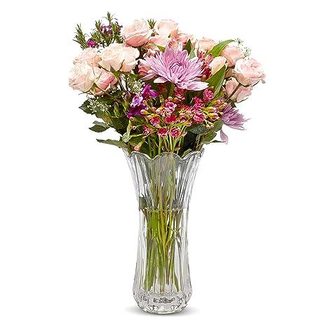 Large Glass Crystal Vase For Flowers Crystal Flower Vase Home Kitchen Wedding Decorative Vases Kitchen Decor Home Decor Elegant Classy Holder For