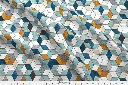 f6f177493c1 Amazon.com: Spoonflower Hexo by Nouveau_Bohemian - Custom Fabric ...
