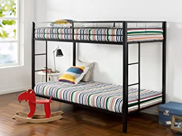 reputable site 364b0 7739b Zinus Aileene Easy Assembly Quick Lock Twin over Twin Classic Metal Bunk  Bed with Dual Ladders / Quick to Assemble in Under an Hour