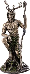 Top Collection Herne The Spirit Hunter Statue -Celtic God of The Forest, Animals, and Fertility Sculpture in Premium Cold Cast Bronze- 10.5-Inch Collectible Figurine