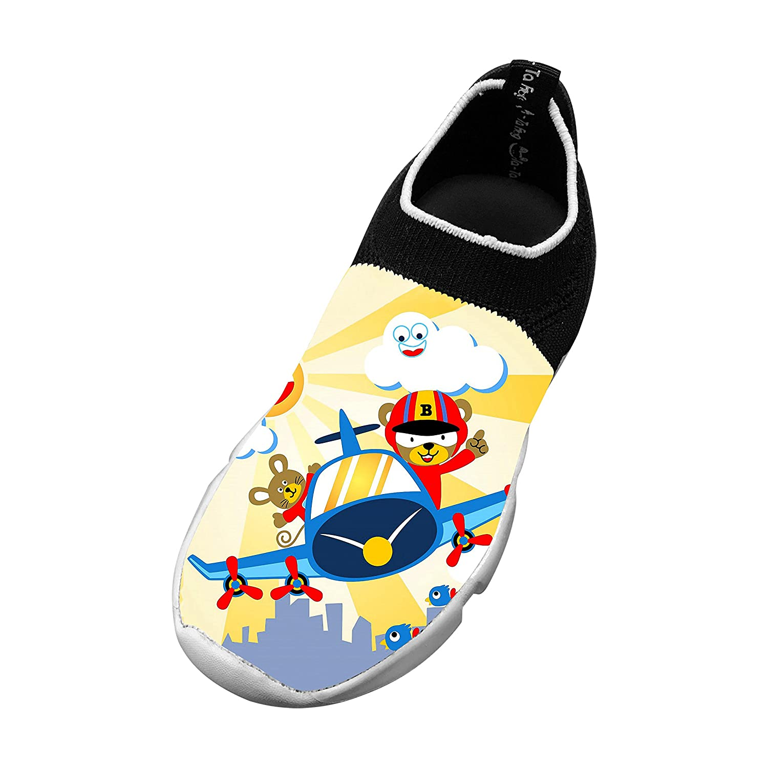 New Funny Flywire Weaving Gym shoes 3D Personalised Custom With Animals Plane For Boys Girls
