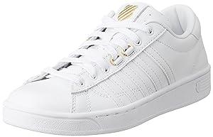 K-Swiss Women's Hoke 50th Athletic Shoe, White/Gold, 5.5 M US