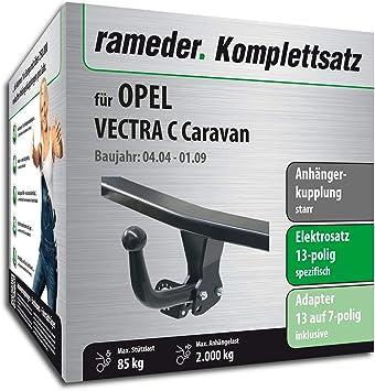 rameder Juego completo, remolque fijo + 13POL Elektrik para Opel Vectra C Caravan (117027 - 05057 - 1): Amazon.es: Coche y moto