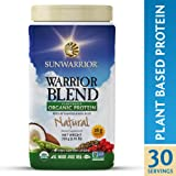Sunwarrior Warrior Blend Protein Organic Plant-Based Natural 1 65 lb 750 g