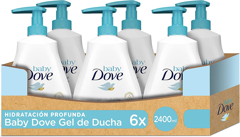 Baby Dove Gel De Baño Hidratación Profunda - Pack de 6 x 400 ml (Total: 2400 ml)