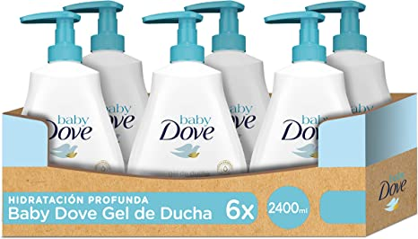 Baby Dove Gel De Baño Hidratación Profunda - Pack de 6 x 400 ml (Total: 2400 ml): Amazon.es: Bebé
