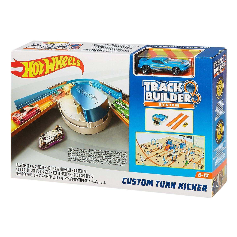 Hot Wheels FPG95 Track Builder Custom Turn Kicker Curve Accessory, Multi-Colour Mattel