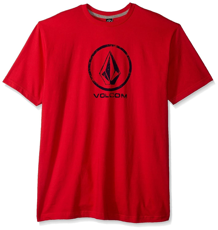 (ボルコム) VOLCOM メンズ ロゴ入り 半袖 プリント Tシャツ (ベーシックFIT採用) 【 A3511700/Lino Stone SS Tee 】 B06XJJQLHF Medium レッド(True Red) レッド(True Red) Medium