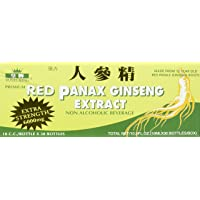 Royal King Red Panax Ginseng Extract 6000mg, 0.338 Fl Oz, Pack of 30