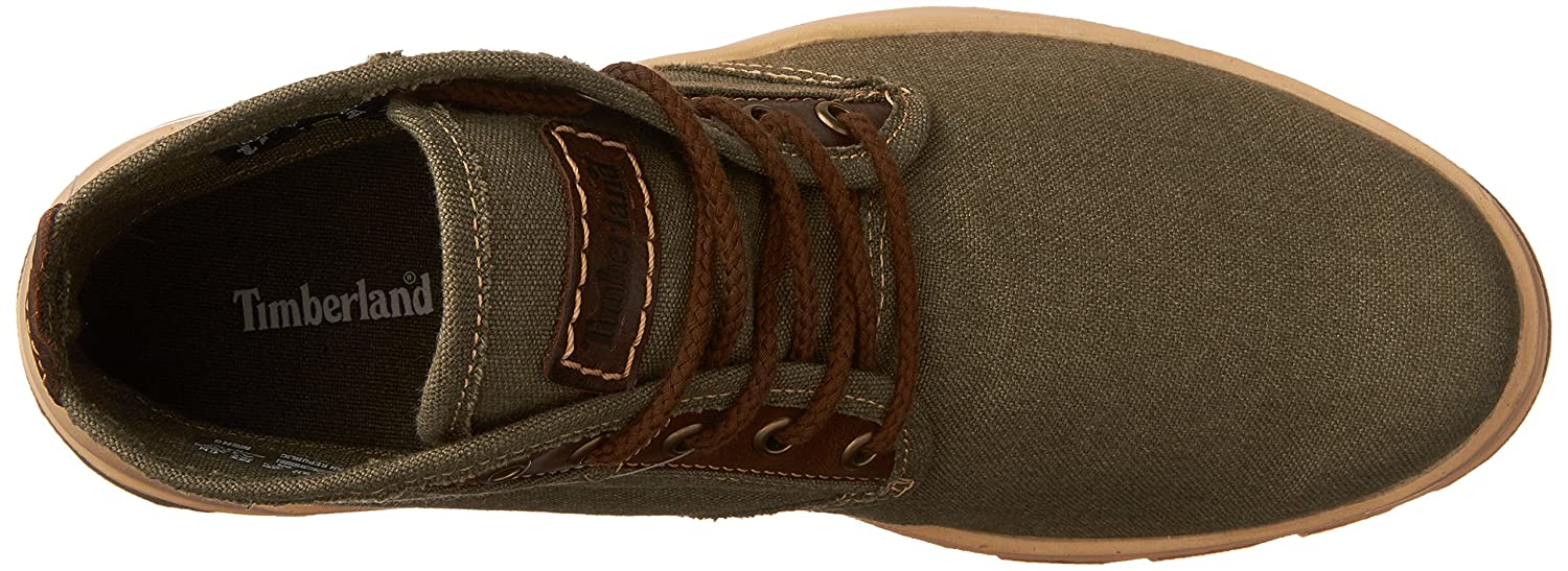 Timberland City Blazer Chukka Shoes Men Olive CanvasLeather