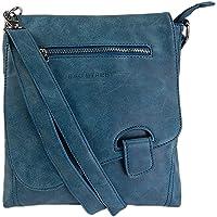 Bag Street - Bolso de hombro con presilla, aspecto desgastado, petróleo (Azul) - .