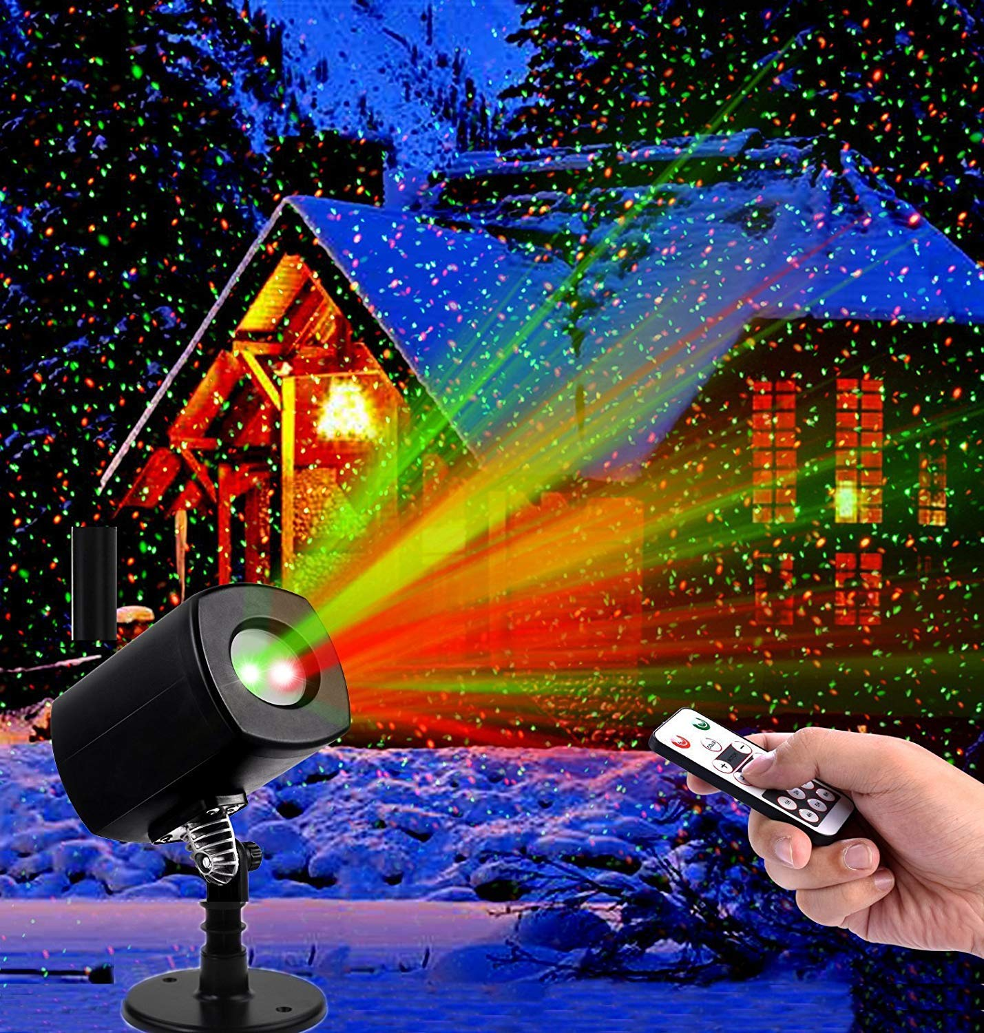 YUEGANG LED Projector Light Star Laser Landscape Projector Light Waterproof Outdoor Garden Spotlight for Christmas Party Disco-Replacement Service