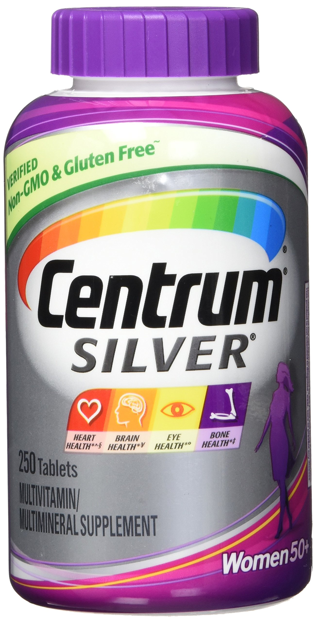New. Easier to Swallow Centrum Silver Women 50 + 250 Tablets by Centrum