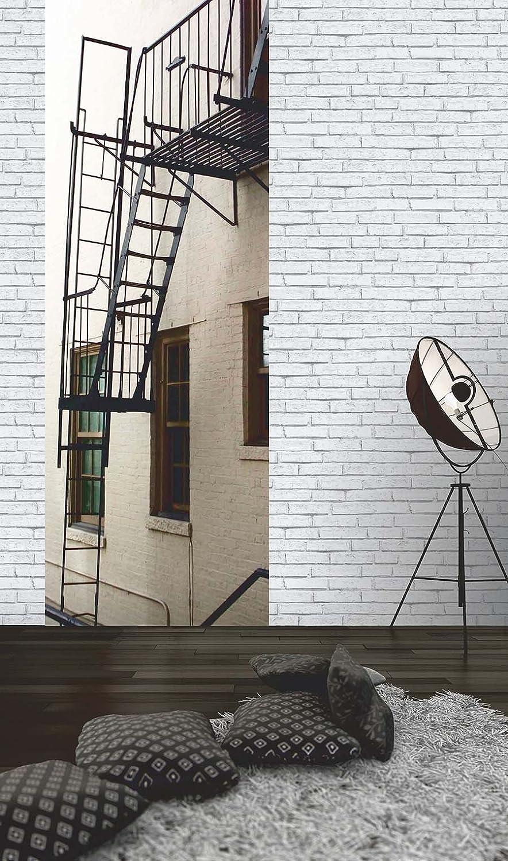 Cr/éation Papier peint Authentic walls rouge 10,05 m x 0,53 m 301691 A.S