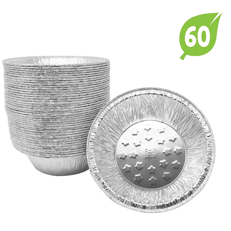 (60 Pack) Premium 5-Inch Pie Pans Disposable l Top Baker's Choice Aluminum Foil