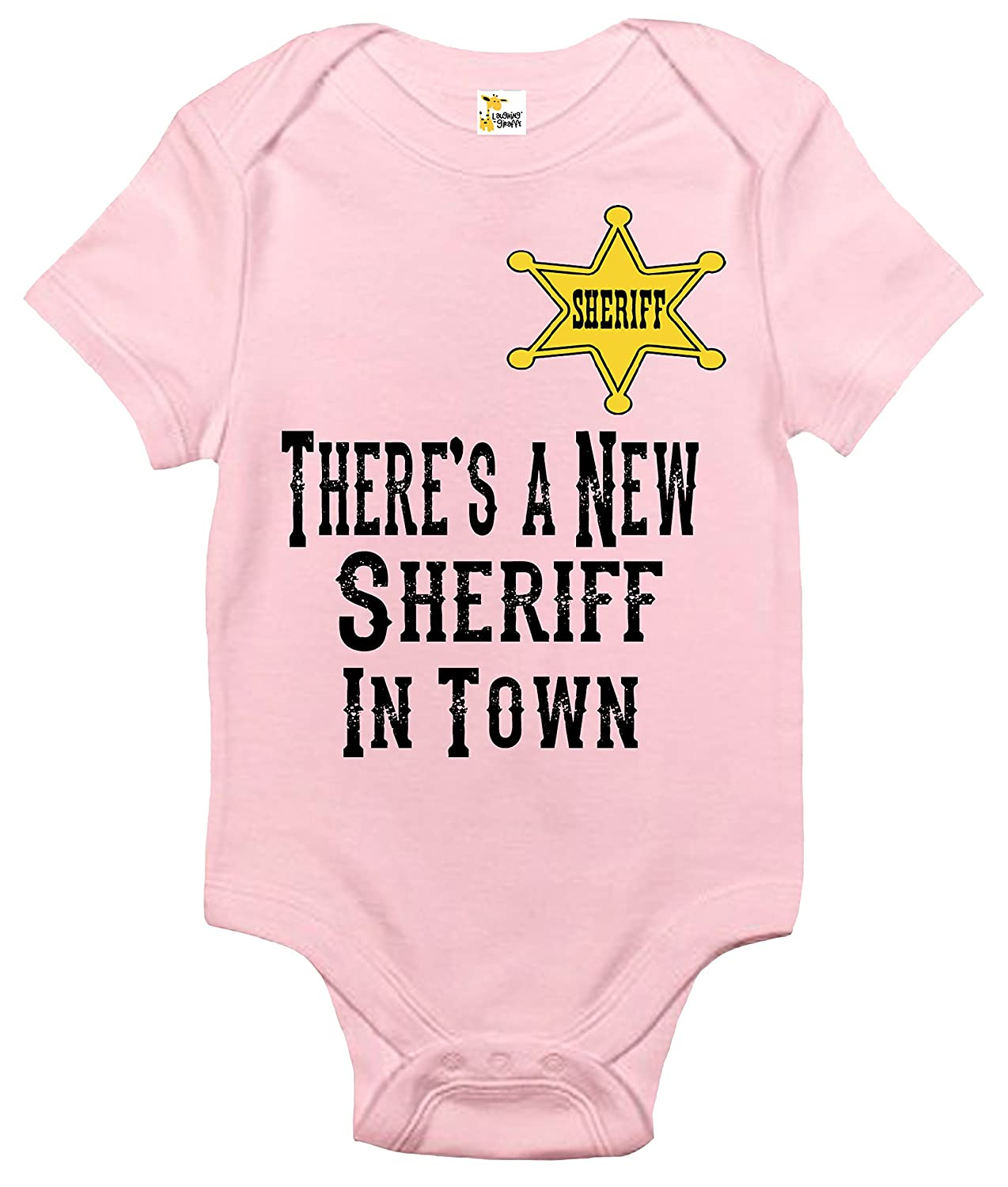Theres New Sheriff In Town And Shes >> Amazon Com There S A New Sheriff In Town Baby Bodysuit Cute Baby