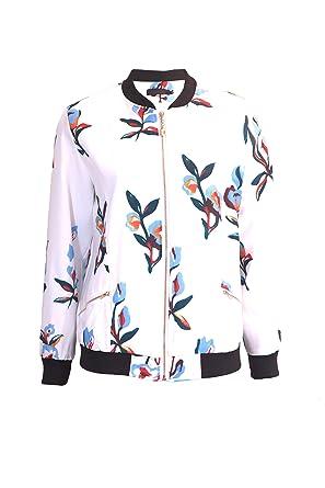 Vêtements Veste Et Fleuris Imprimés Femme Bombers c84r8qI