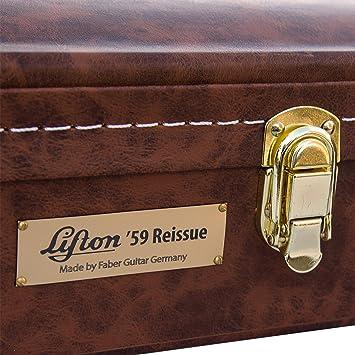 Lifton 59 Guitar Case by Faber, Guitarra maletín, funda,, válido Gibson® Les Paul & All LP de Style Guitars: Amazon.es: Instrumentos musicales