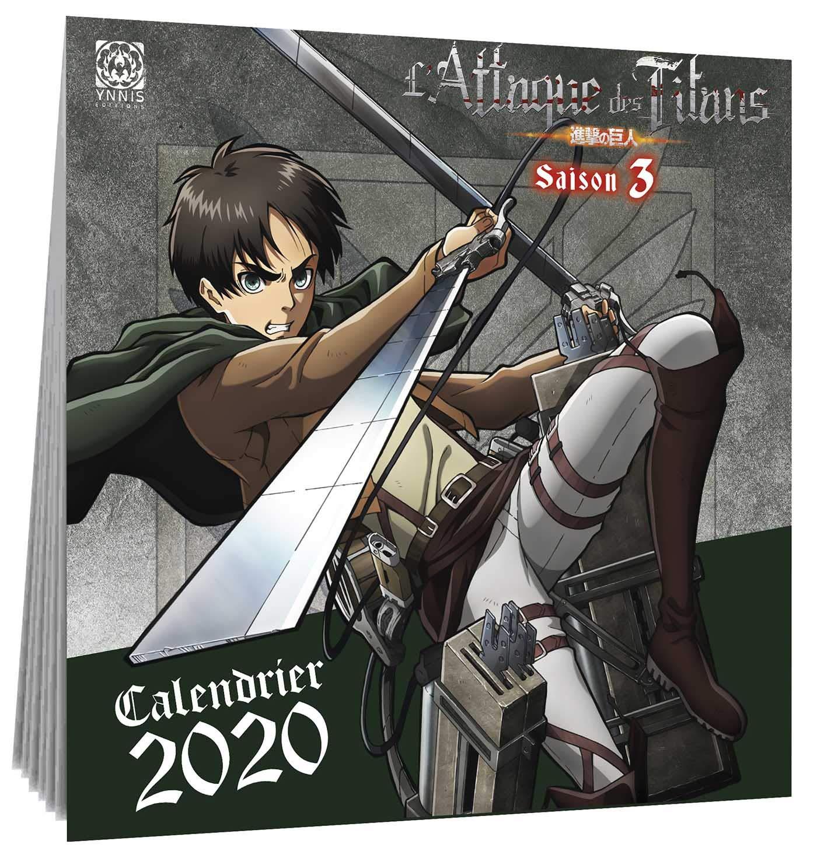 L'Attaque des Titans calendrier 2020 (YNI.LIVRES) (French Edition