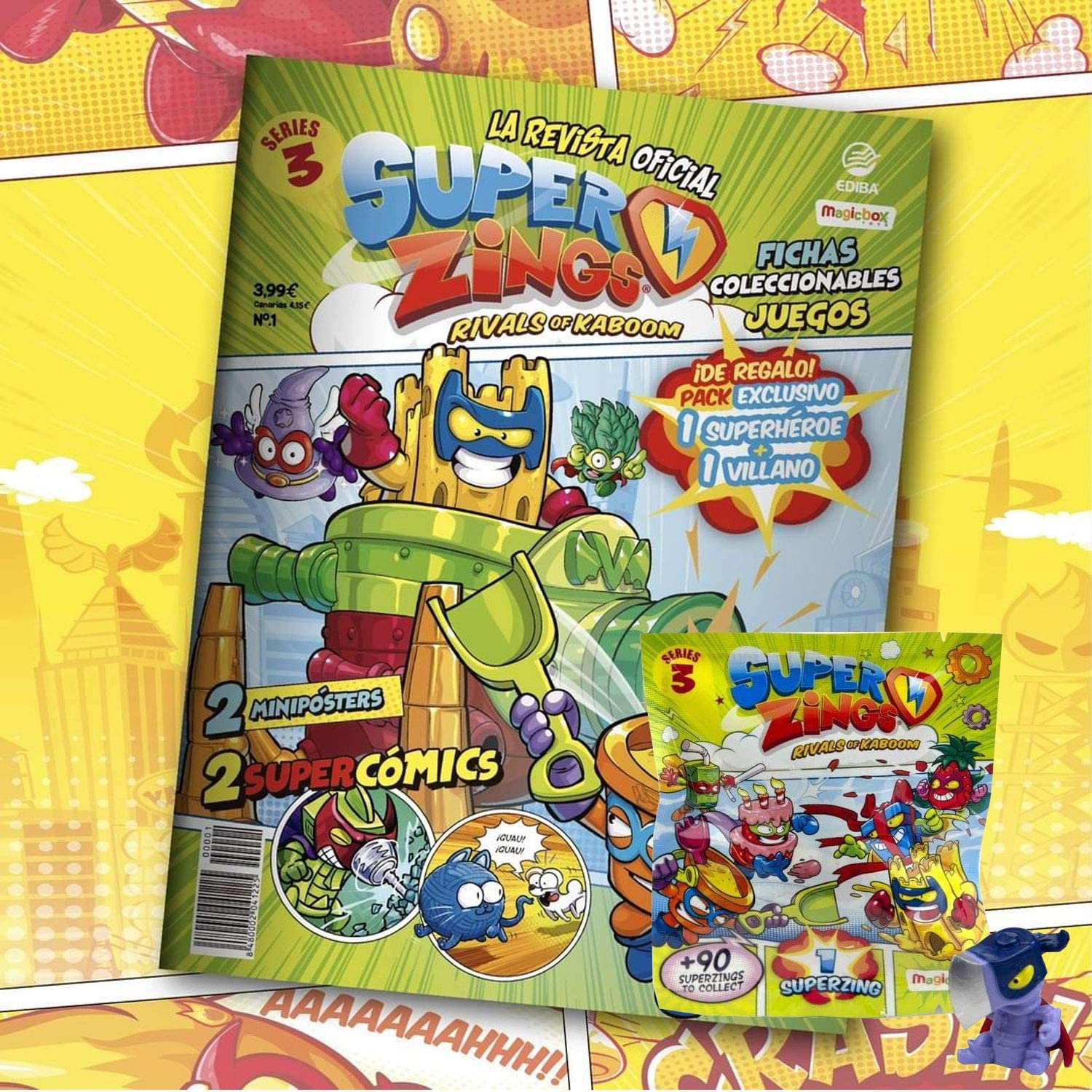 Superzings Rivals of Kaboom Serie 3 Revista Oficial Pack Exclusivo Superzings: Amazon.es: Juguetes y juegos