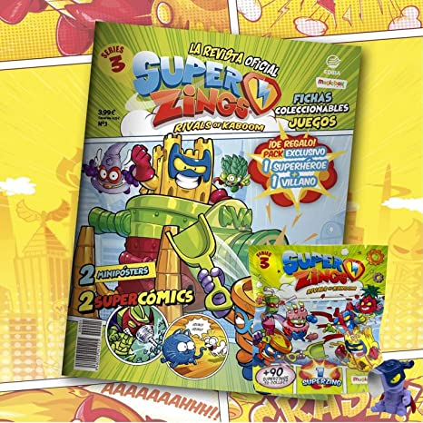 Superzings Rivals of Kaboom Serie 3 Revista Oficial Pack Exclusivo ...