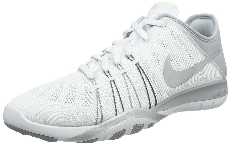 Weiß (Weiß Metallic Silber-wlf grau) Nike Damen Free Trainer 6 Hallenschuhe