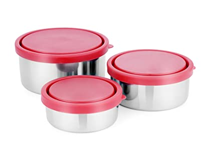 Liefde Stainless Steel Storage & Snacks Bowls (Set of 3)