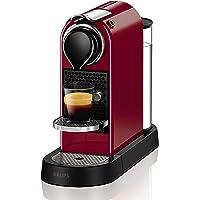 Krups Nespresso Citiz Flow XN7405 - Cafetera monodosis de 19 bares, 2 programas de café personalizables, bandeja extraíble y autoapagado, color rojo