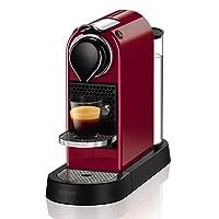Nespresso Krups Citiz Flow Stop-Cafetera monodosis (19 Bares, Bandeja extraíble) Rojo, 1260 W, plástico, Negro