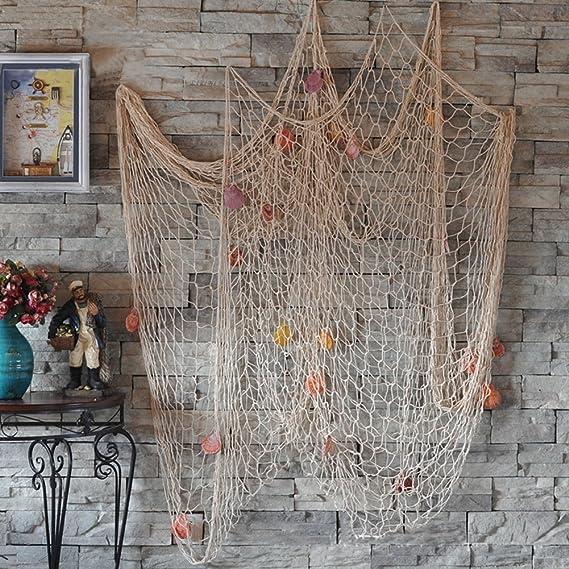 Mediterranean Sea Fishing Net Ocean Soft Loading Hand-woven Wall Decoration HP