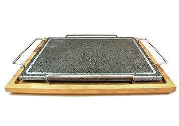 Fasa – Placa de esencias con marco de acero inoxidable y soporte de madera grande cm