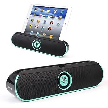 Double 5W Haut-Parleurs Stéréo Bluetooth]SAVFY® BASS Enceinte ...