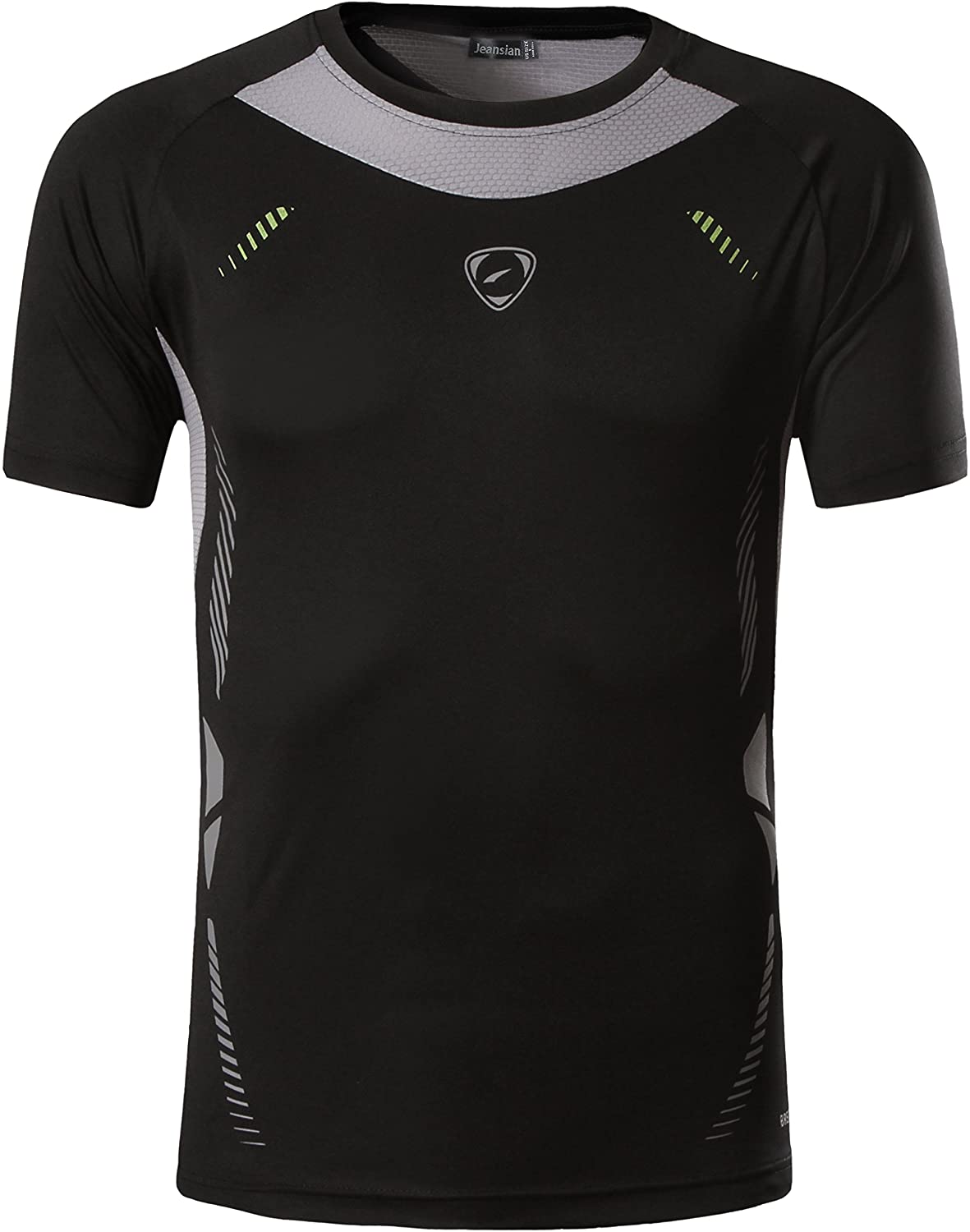 jeansian Men's Sports Breathable Quick Dry Short Sleeve T-Shirts Tee Tops Running Training LSL133 LSL133_P