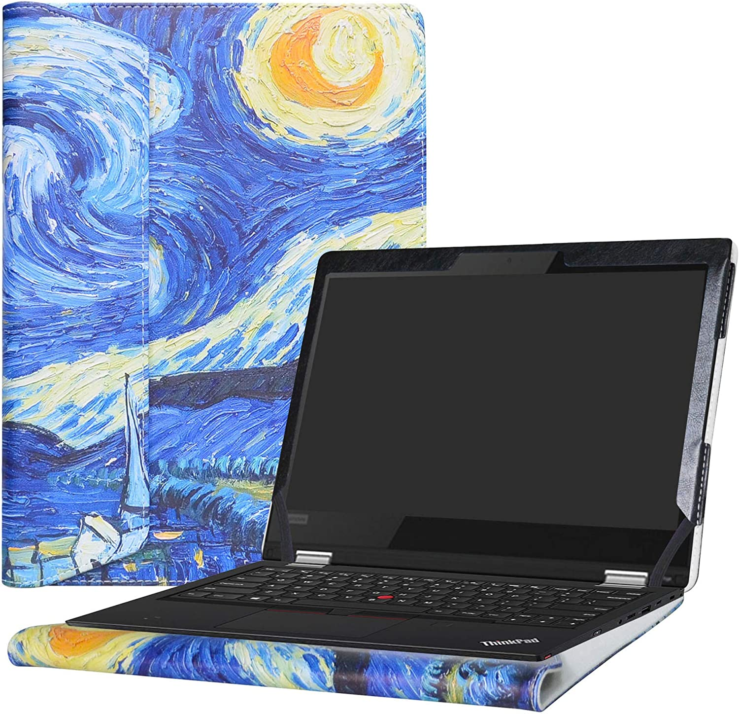 "Alapmk Protective Case Cover For 13.3"" Lenovo ThinkPad L380 Yoga/L390 Yoga/ThinkPad L380 L390 & Lenovo ThinkPad 13 Chromebook/ThinkPad 13 Series Laptop(Warning:Not fit Other model),Starry Night"